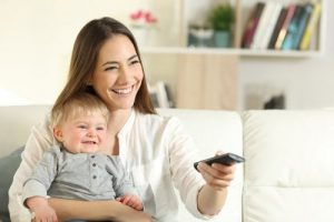 dibujos animados para aprender inglés - bebe con mamá