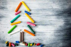 feliz navidad aurora - árbol tizas